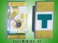 0603黄绿LED灯珠0.4T