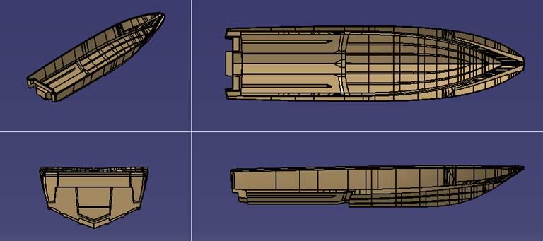 飞艇计划软件飞艇计划全天新产品FIC1850截击艇完成船模实验